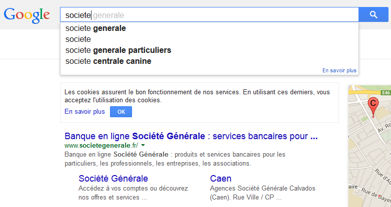 exemple de Google Suggest