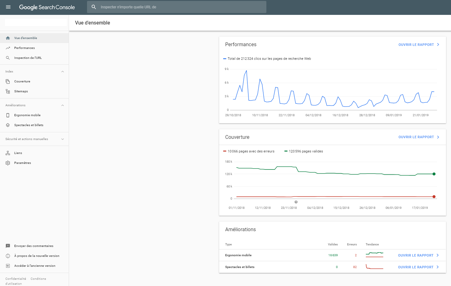Nouvelle version de la Search Console
