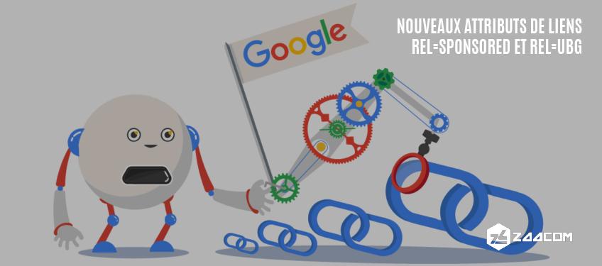 Rel=sponsored et rel=ugc, nouveaux attributs de liens de Google