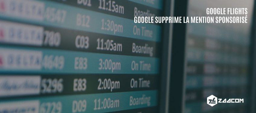 Google supprime la mention « Sponsorisé » de Google Flights