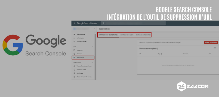 Intégration de l'Outil de Suppression d'URL à la nouvelle Search Console
