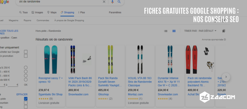 Fiches Gratuites Google Shopping : nos conseils SEO