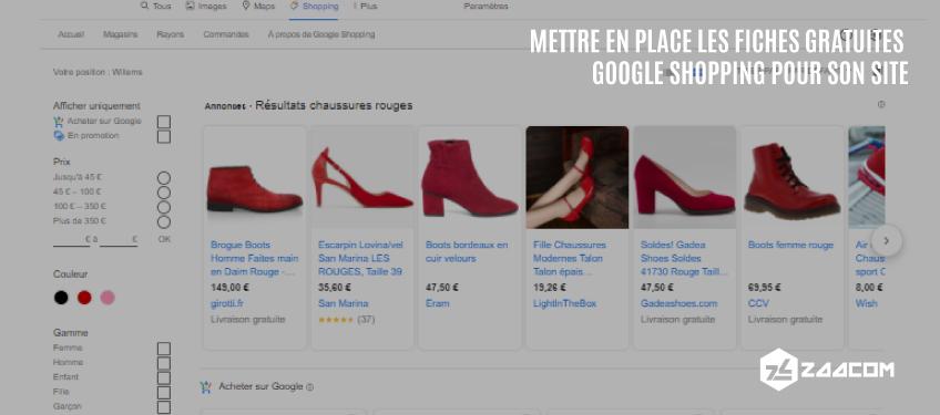 Mettre en place les fiches gratuites Google Shopping pour son site